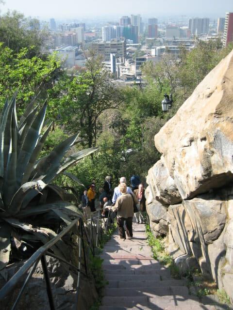 Cerro Santa Lucia stairs