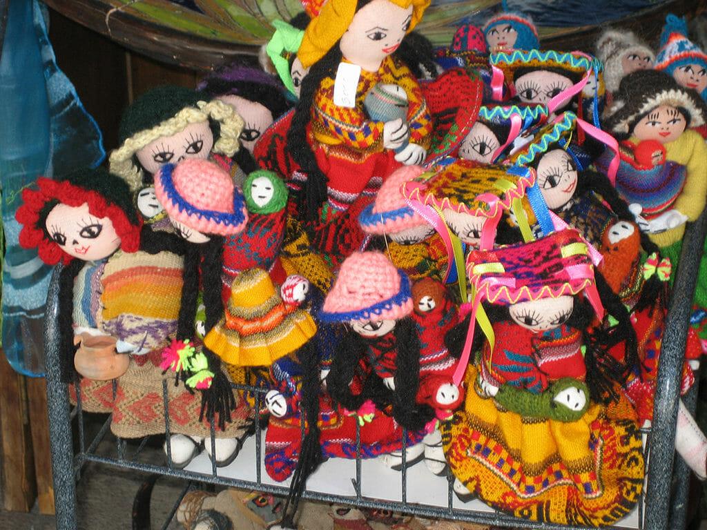 Peruvian dolls in Santa Lucia
