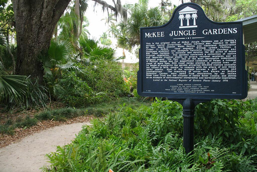 McKee Botanical Garden historic marker