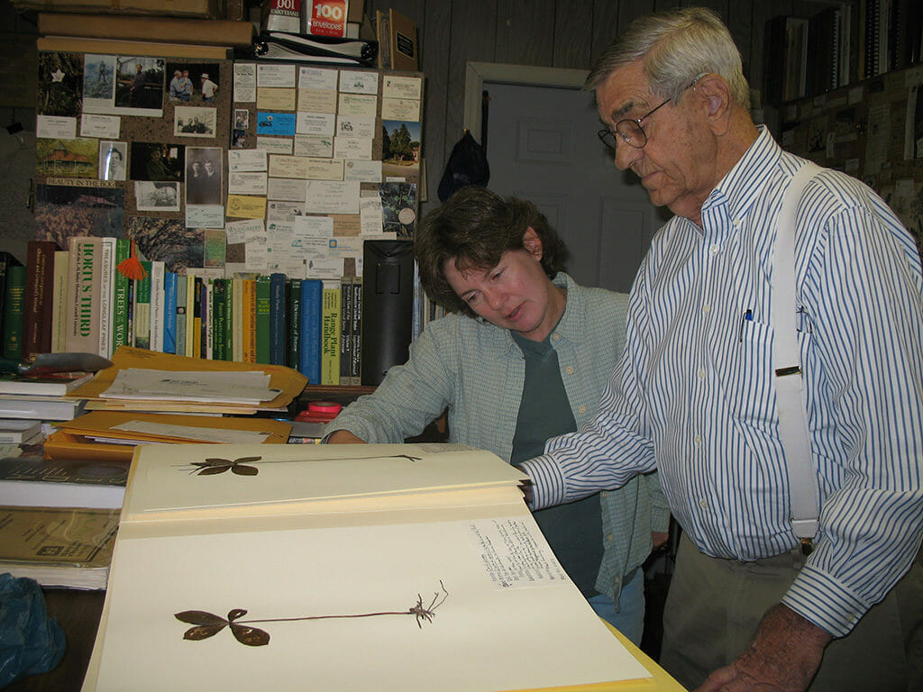 Leigh and Angus Gholson in his Herbarium