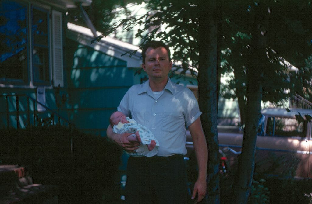 Dad with newborn Sally