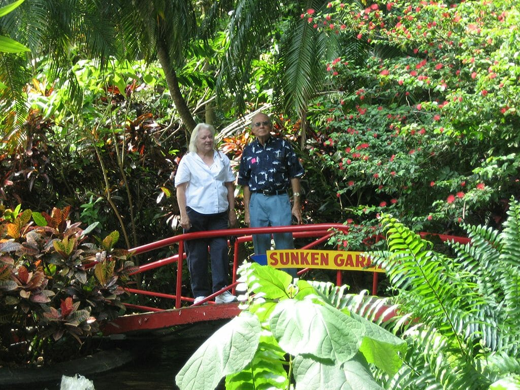 Mom and Dad at Sunken Gardens