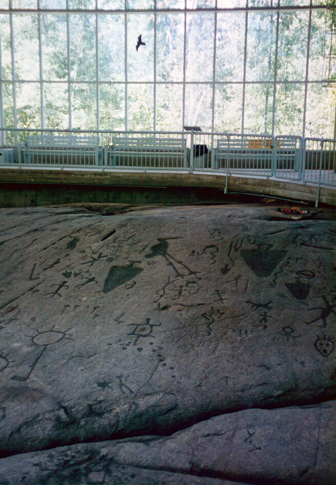 At Petroglyphs Provincial Park, Ontario