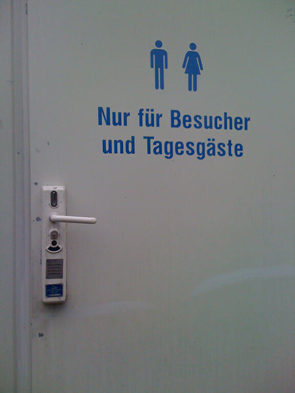 Pay toilet in Germany