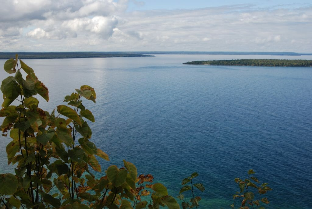 View from the West Rim Trail on Grand Island