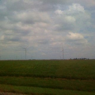Cornfields and wind farms