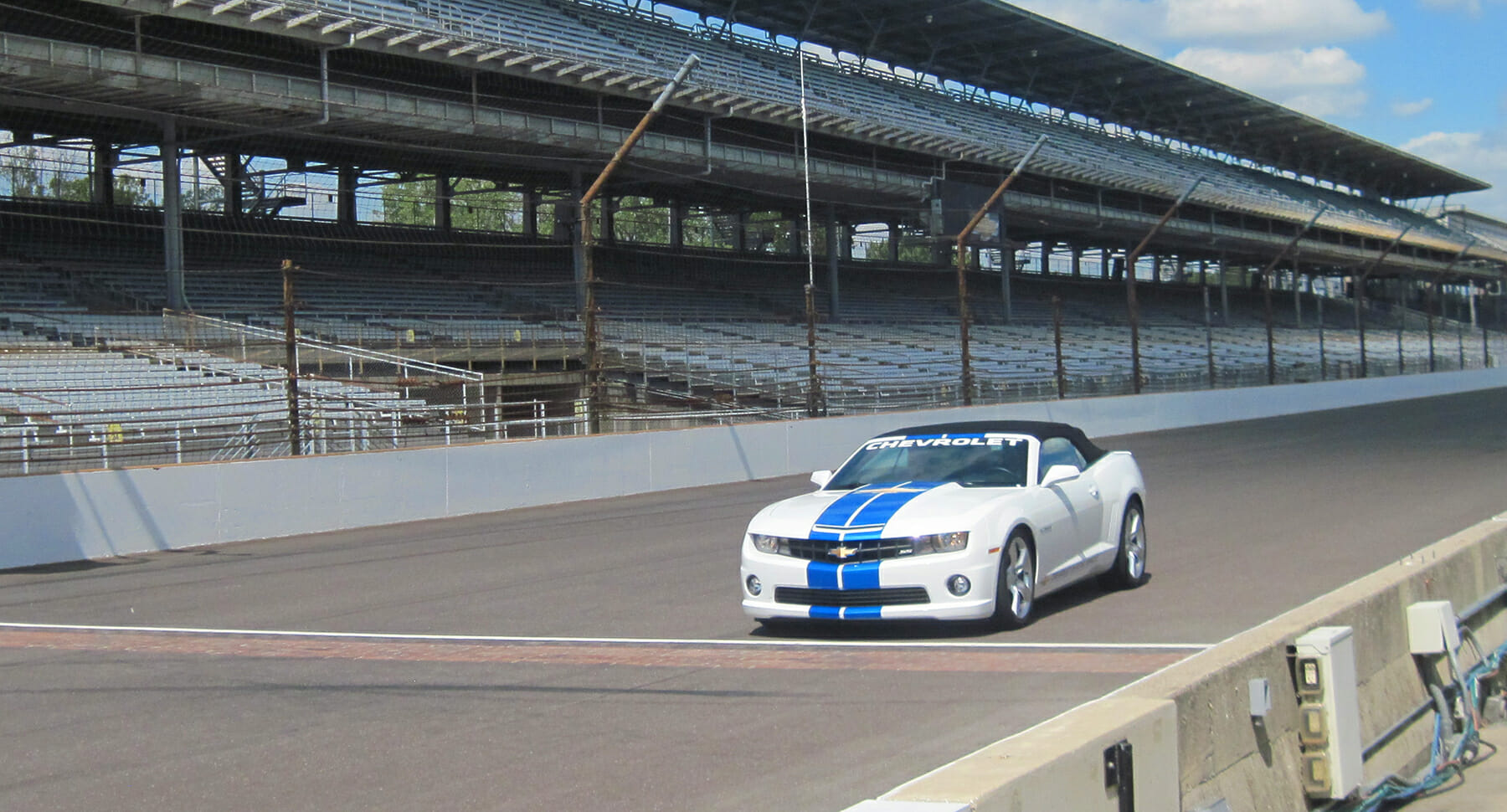On the track at Indy