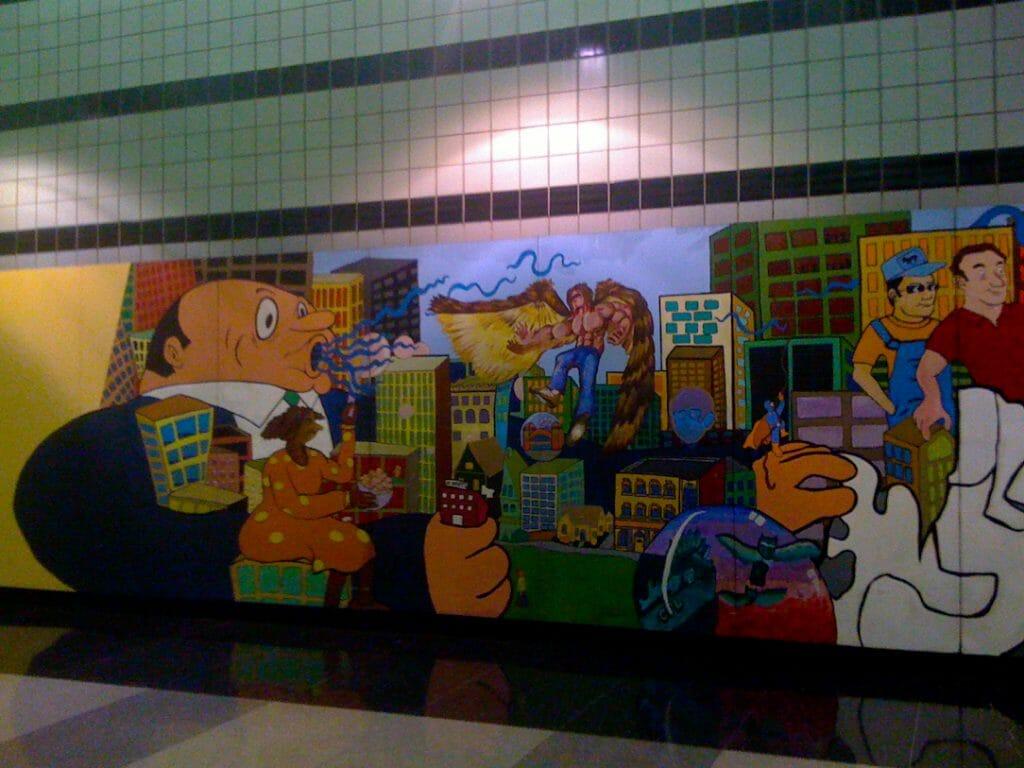 Chicago mural inside O'Hare