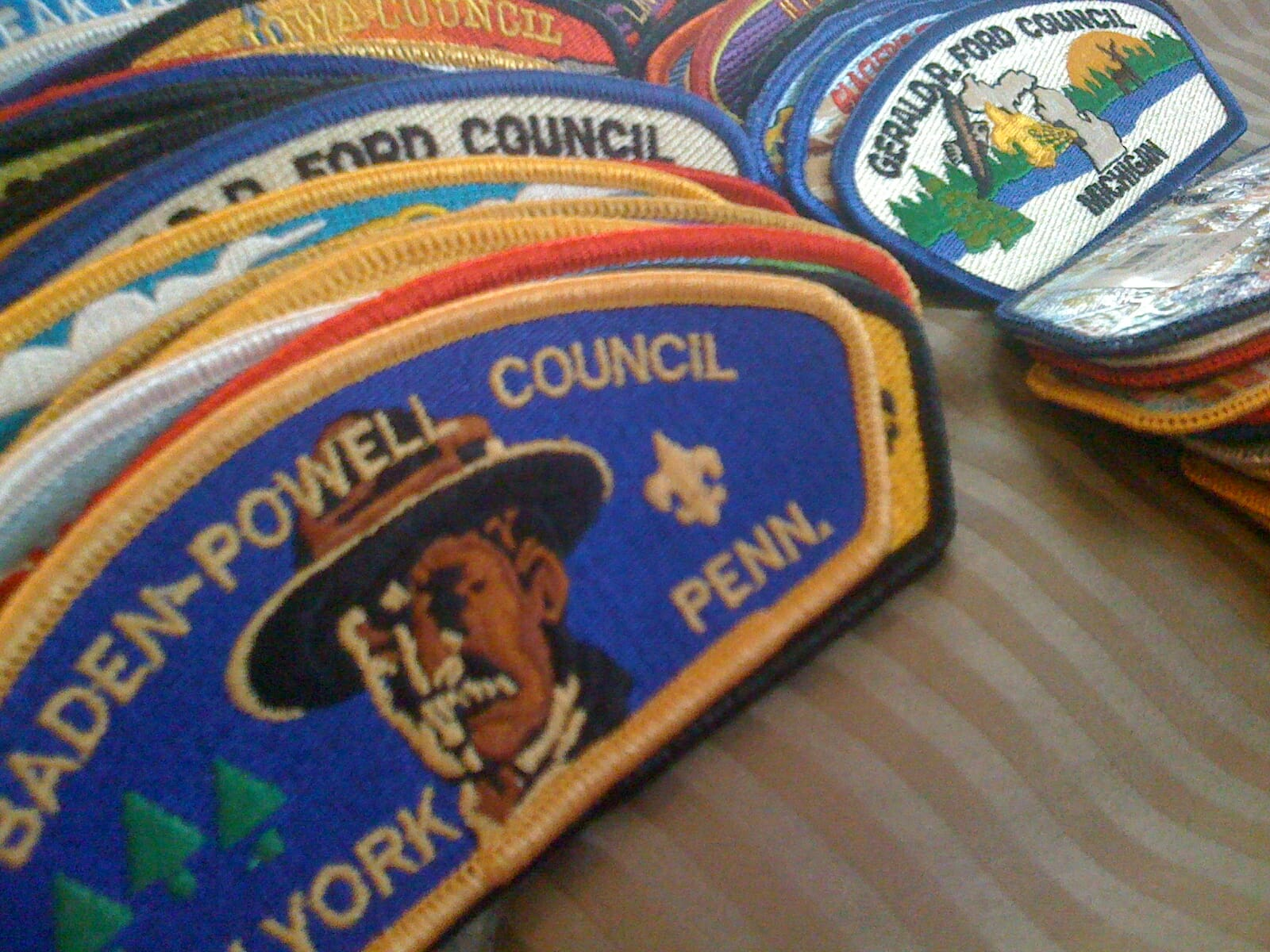 Boy Scout Council Shoulder Patches
