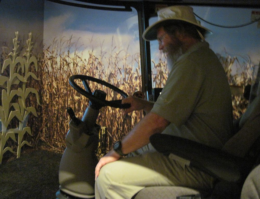 harvester at the Indiana State Museum