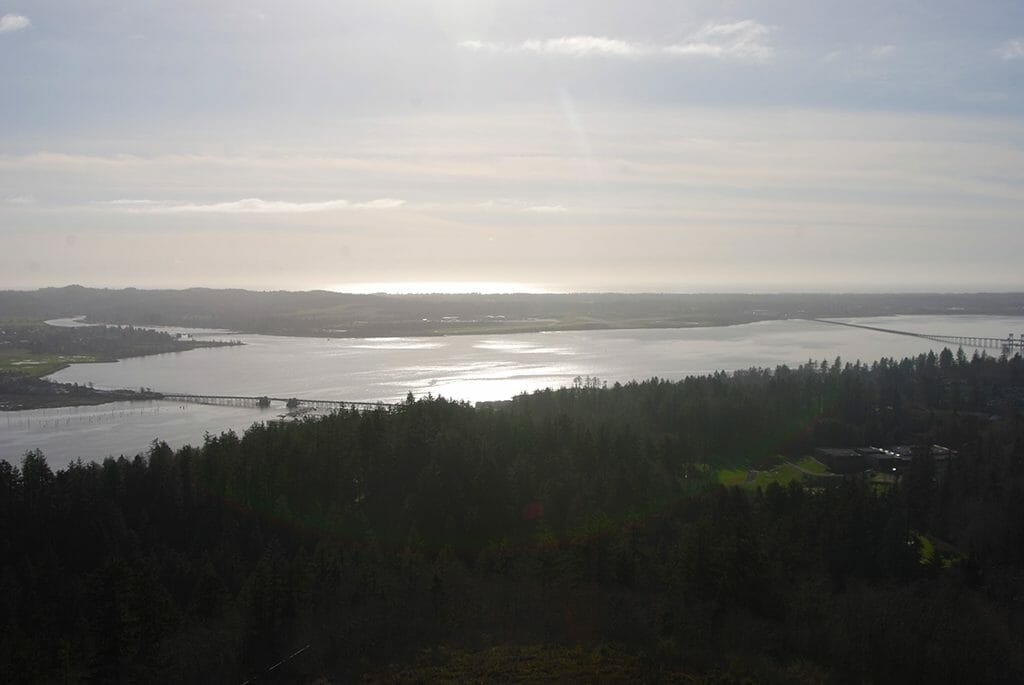Looking west towards the Pacific Ocean and Fort Clatsop