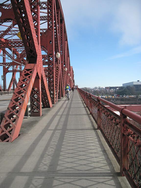 Bike lane on the bridge