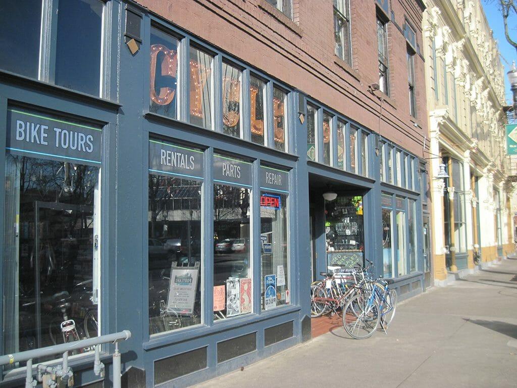 Bike rental shop in Portland