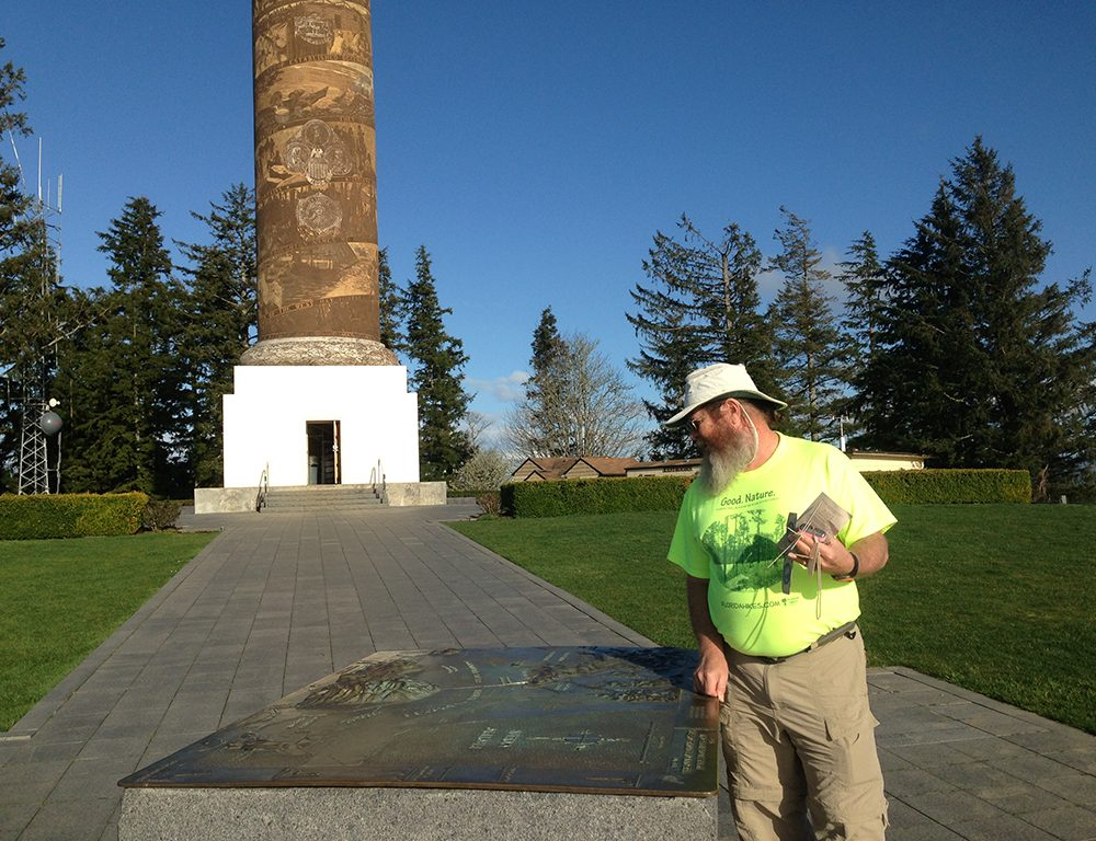Orienting yourself at the Astoria Column
