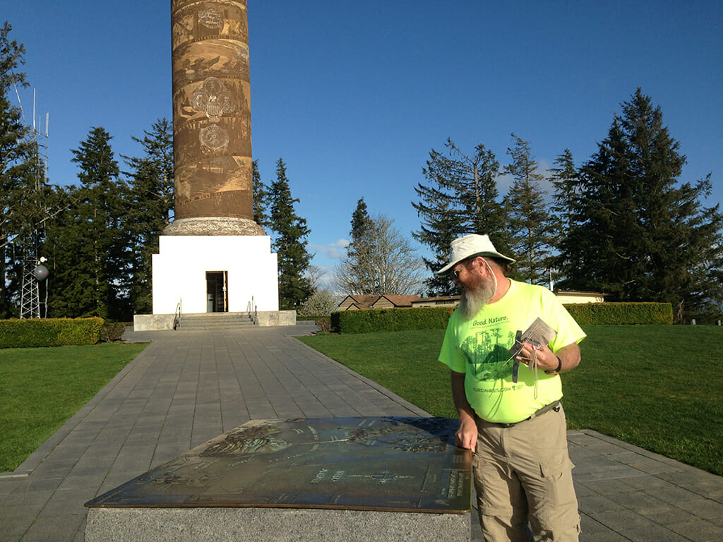Winging it at the Astoria Column