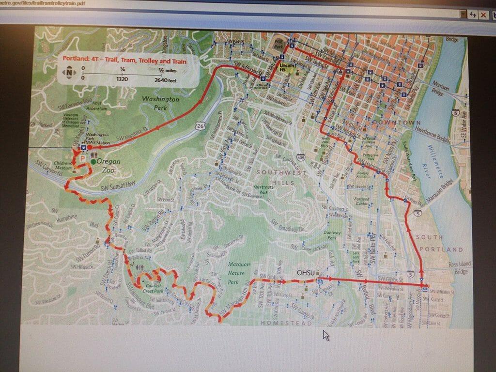 Portland 4T map online