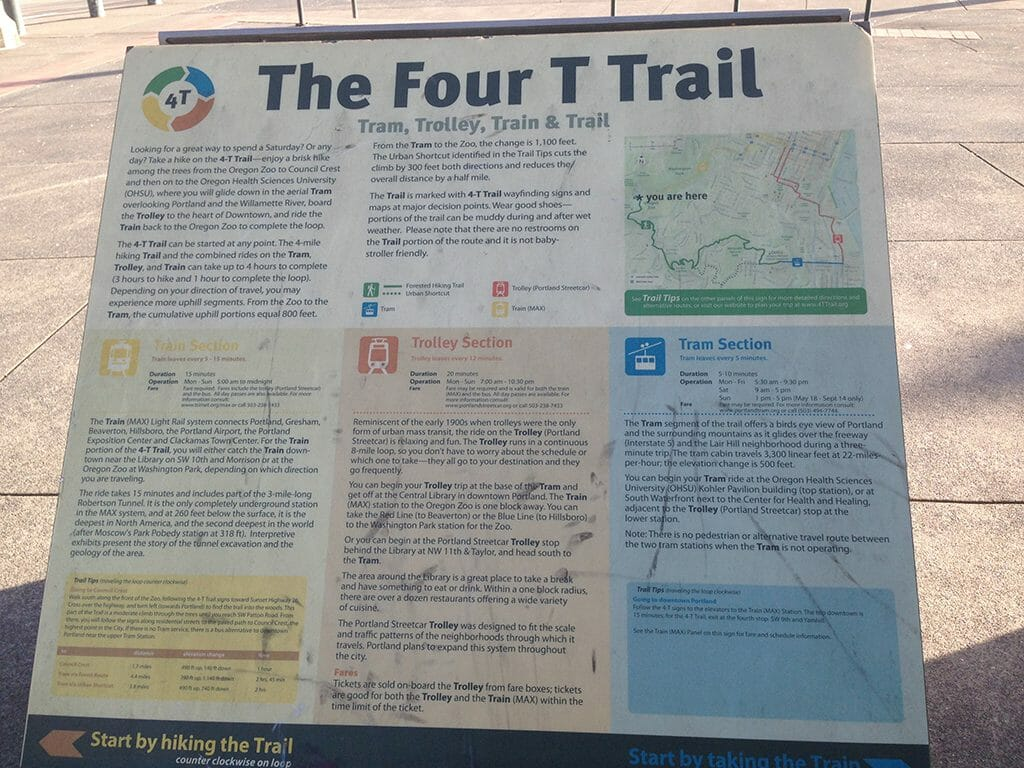 Washington Park Four T route and map