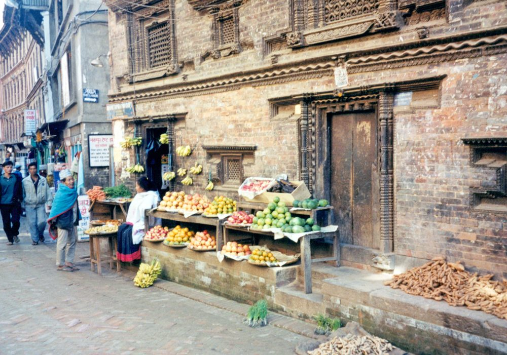 Bhaktapur marketplace
