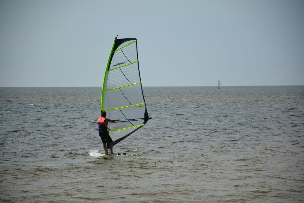 Windsurfing at Canadian Hole, Haulover