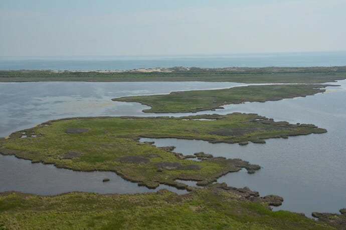A puzzle of land and water along the Outer Banks