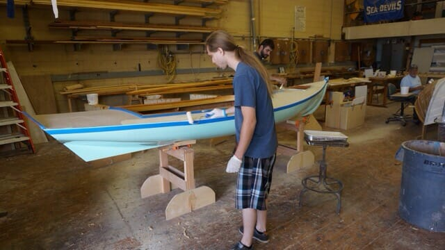 Cape Fear Community College wooden boatbuilding class
