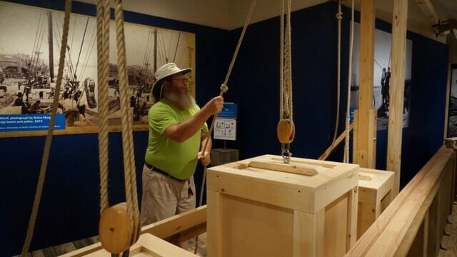 Cape Fear Museum interactive pulleys