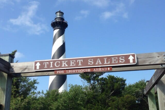 Cape Hatteras Lighthouse entrance