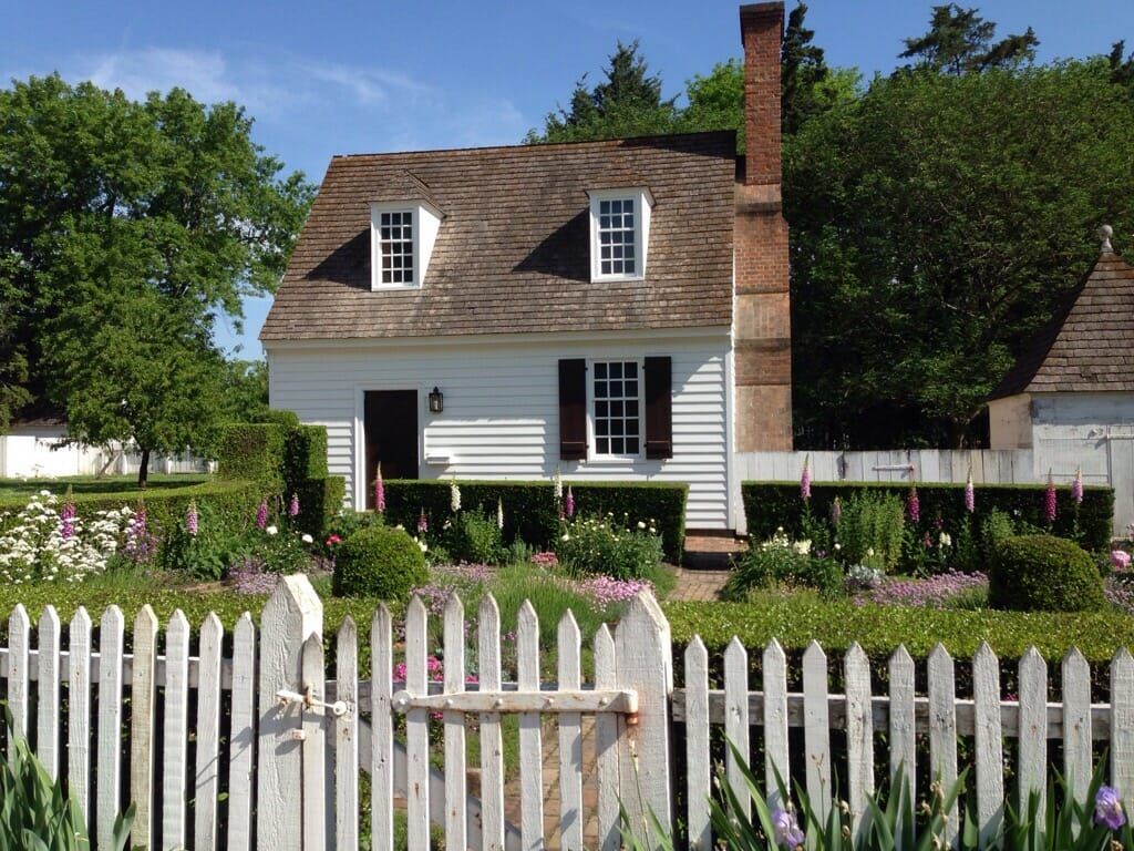 Restored home and garden in Colonial Williamsburg