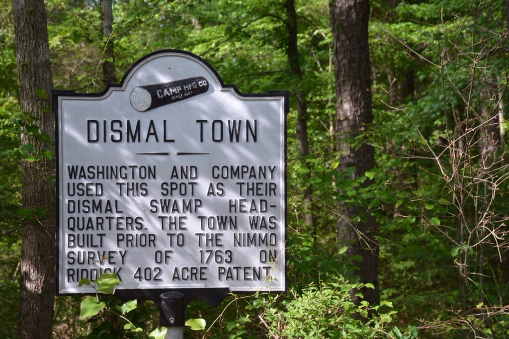 Dismal Town marker