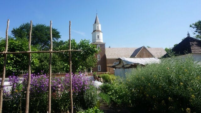 Garden near Bruton Parish Church