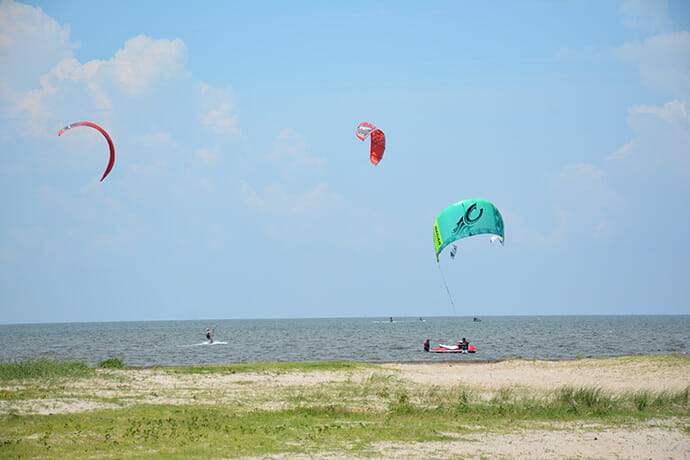 Kitesurfers in Rodanthe