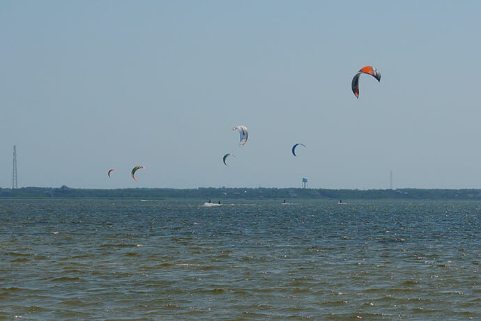 Windsurfers at Canadian Hole