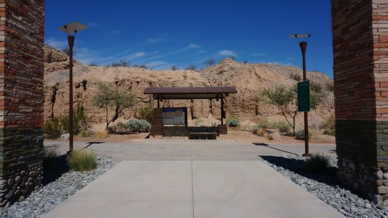 Trailhead kiosk for the Colorado River Greenway