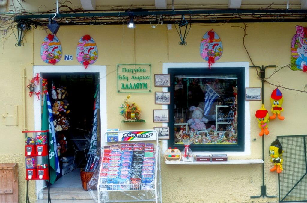 Shopkeepers in Corfu Town are ready for Easter