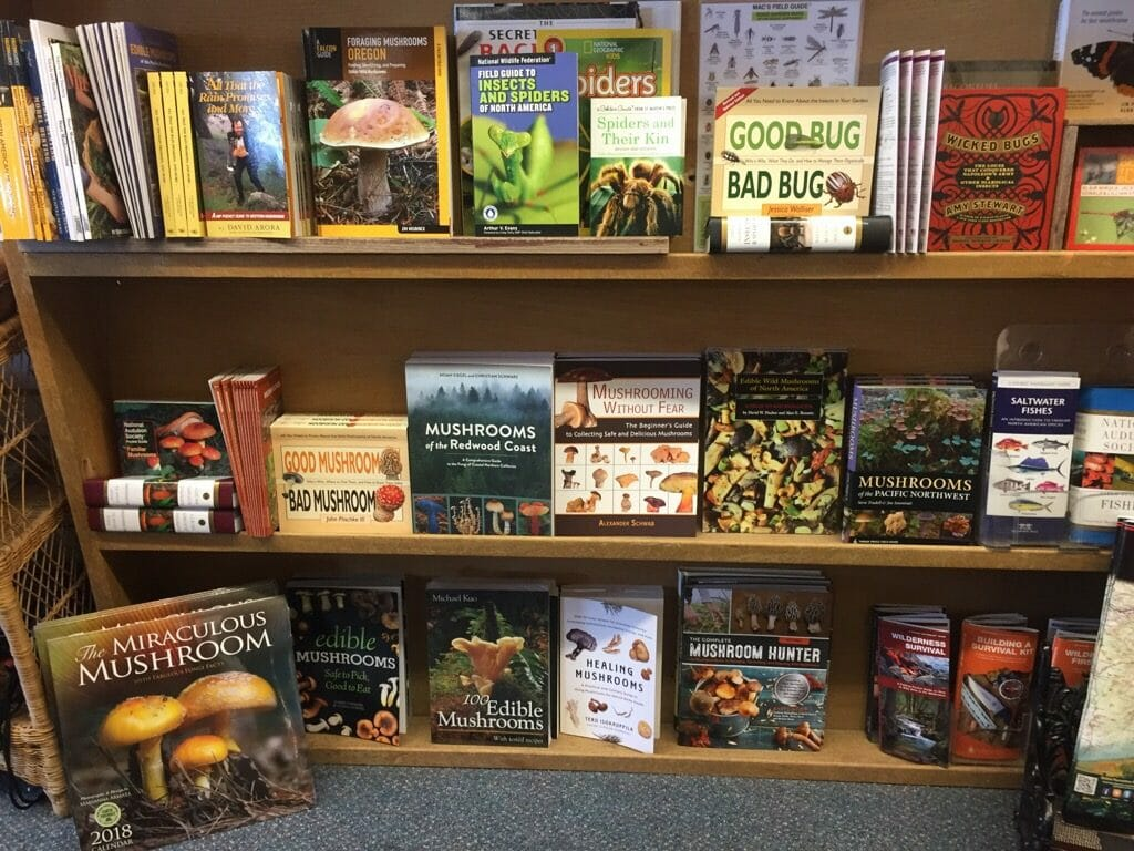 Lots of books on mushrooms in Estacada
