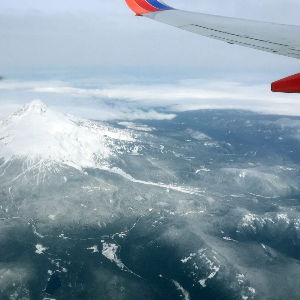 Mount Hood as seen on the approach to PDX