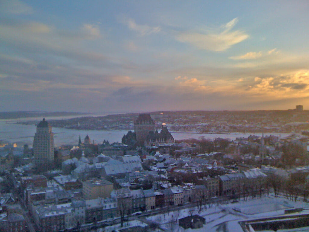 Quebec City in snow