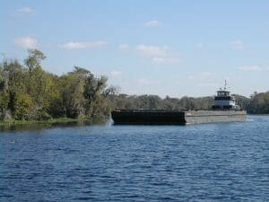 Barge on the St. Johns River