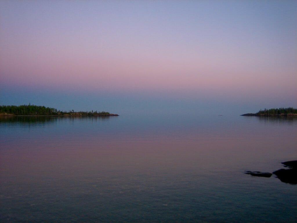 Sunset at Isle Royale National Park
