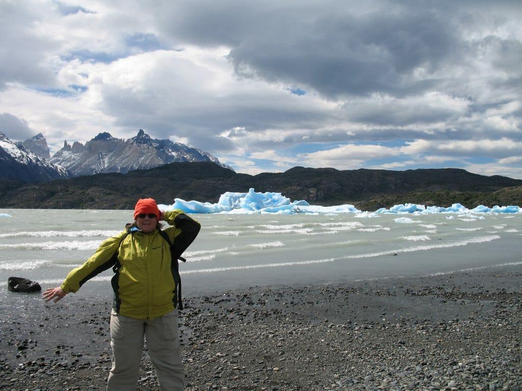 Sandra at Glacier Grey