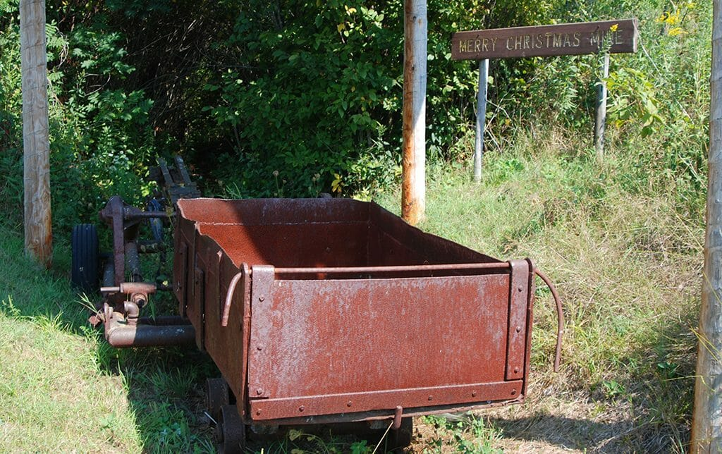 Ore cart on Merry Christmas Mine Hill