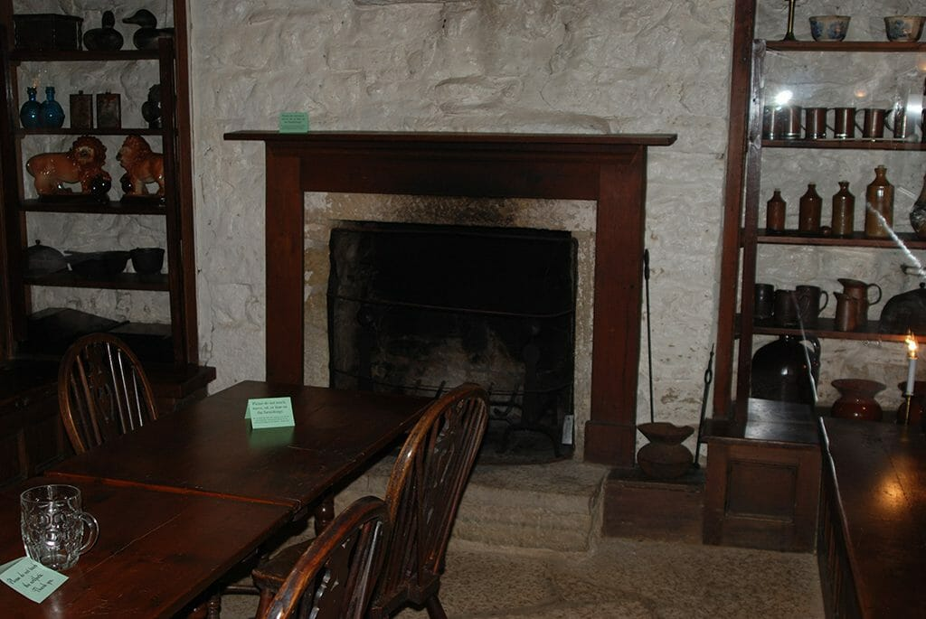 Cottage interior at Pendarvis