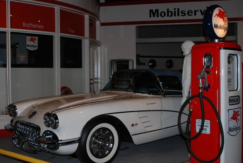 Historical display in the National Corvette Museum