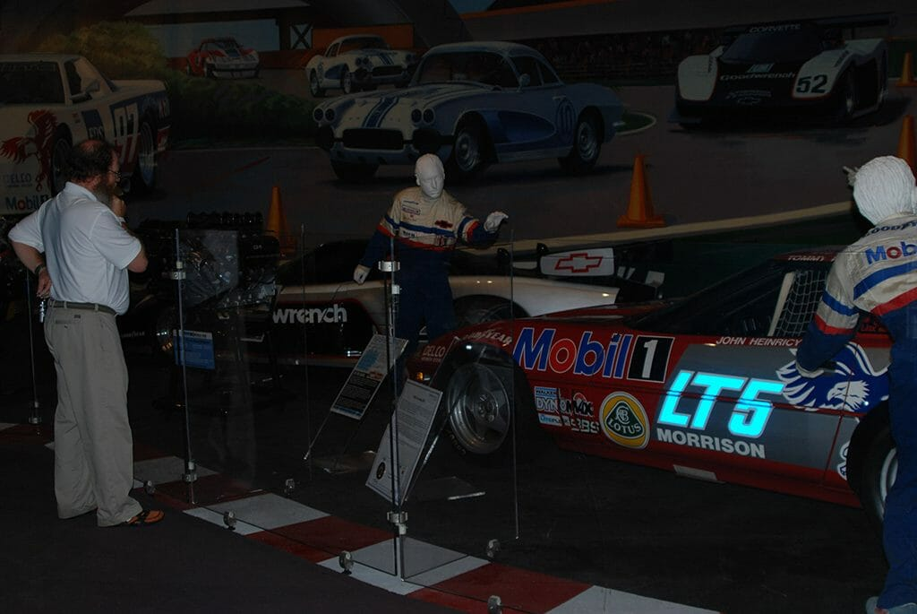Pit crew display in the National Corvette Museum