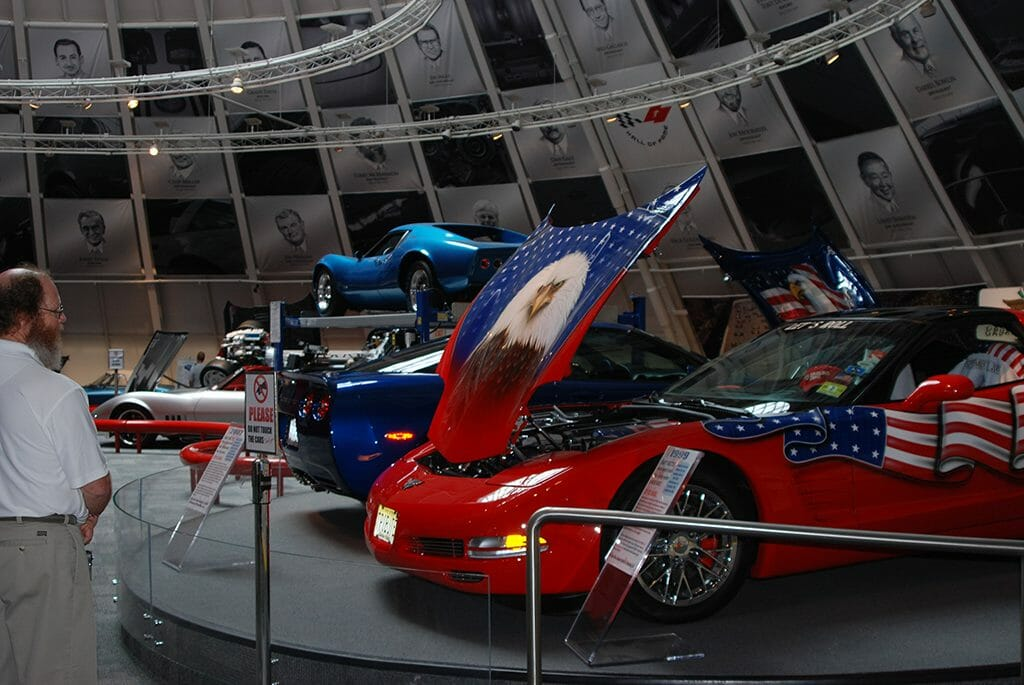 Skydome at Pit crew display in the National Corvette Museum