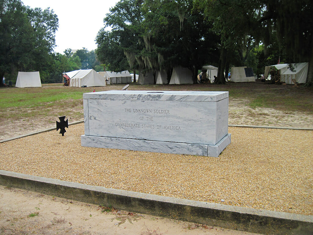 The tomb of the Unknown Confederate Soldier