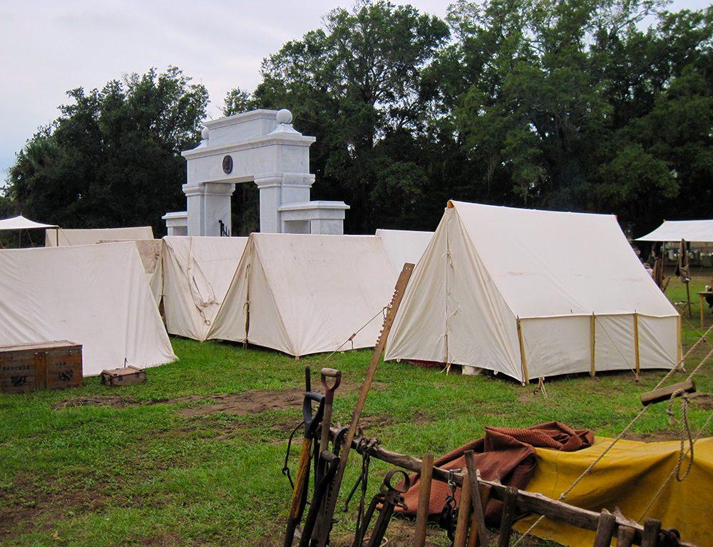 Tents at Beauvoir
