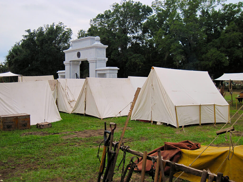 Tents at Beauvoir