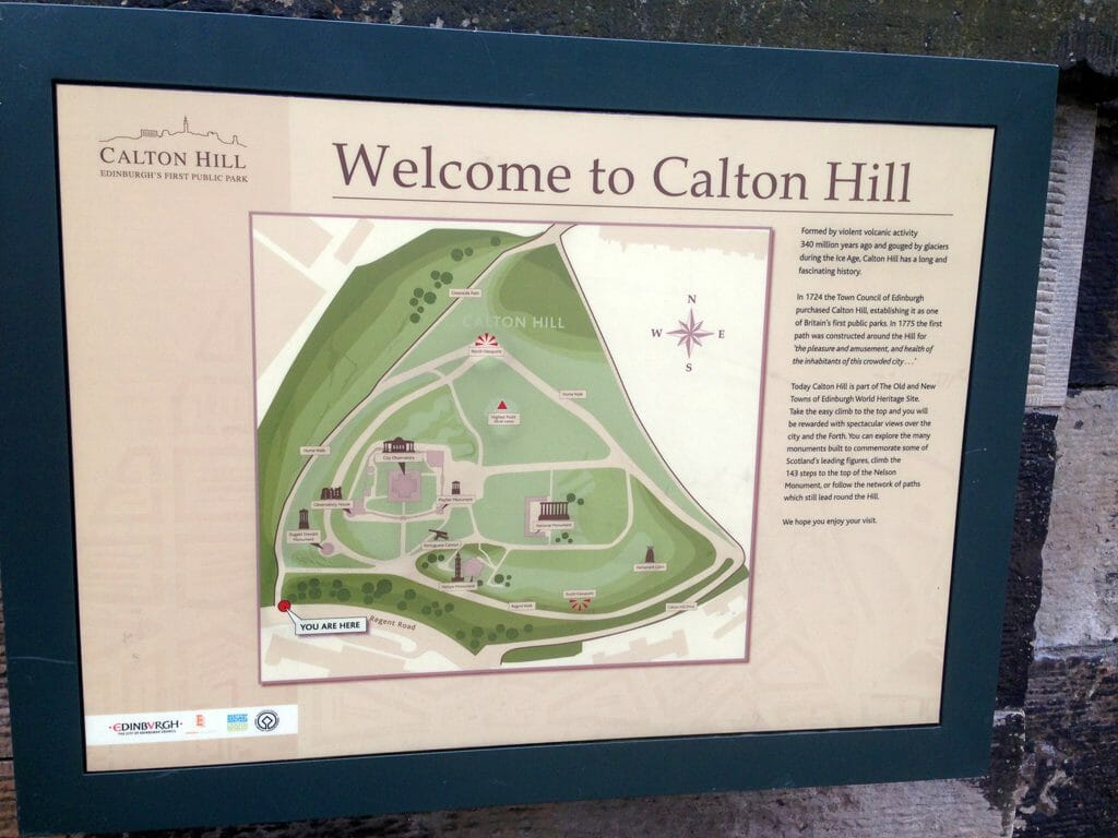 Trail map for Calton Hill