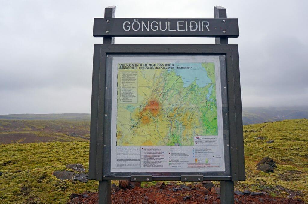 Trailhead map Hengilssvæðið